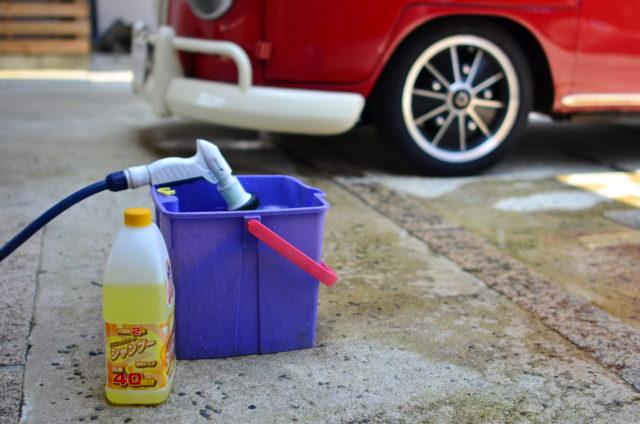 バケツ1杯の水で洗車する方法!マンション暮らしの洗車テクニック